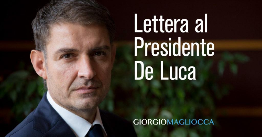 lettera Magliocca a De Luca